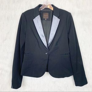The Limited black blazer with faux leather-medium